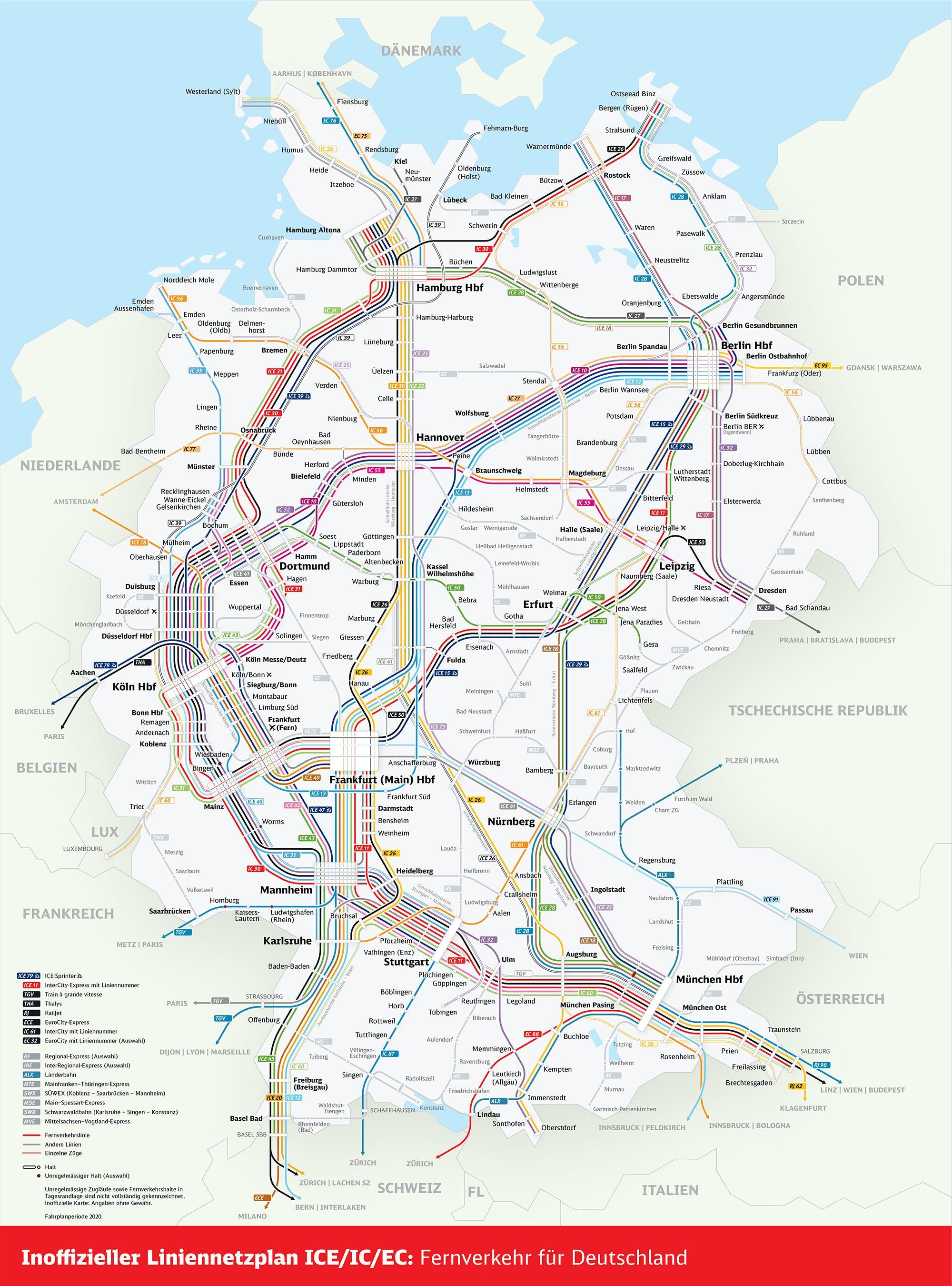 Db Karte Berlin.Db Bahn Karte Deutschland Deutschland Rail Bahn Karte
