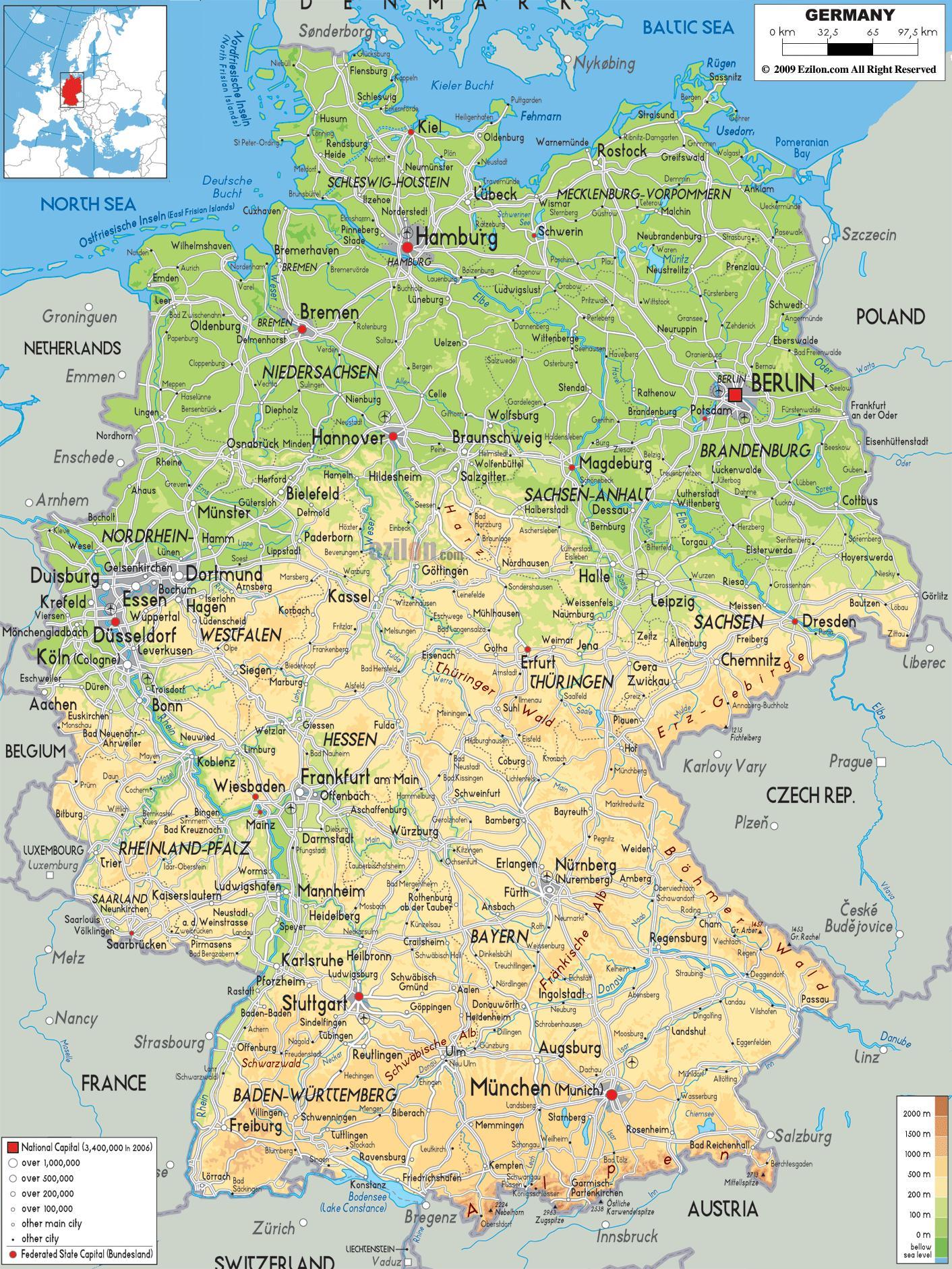 Michelin-Karten, Deutschland - Map of Germany michelin (Western ...