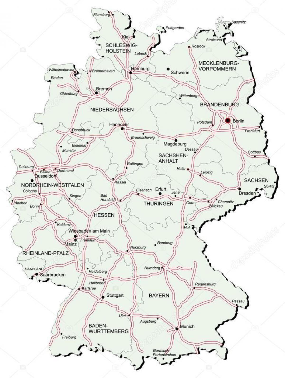 Autobahn Deutschland Karte Deutschland Autobahnkarte Westeuropa