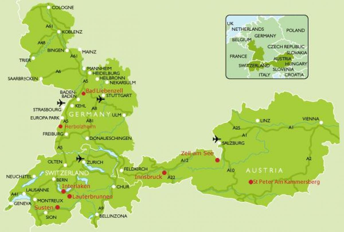 campingplätze in deutschland karte Camping Deutschland Karte   Karte von Deutschland Camping