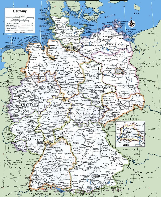 Deutschland Karte Städte.Karte Von Deutschland Mit Städte Deutschland Main Städte Karte